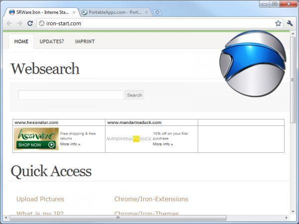 Vorschau Iron Browser Portable - Bild 1