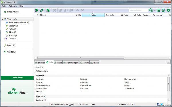 Vorschau uTorrent Portable - Bild 1