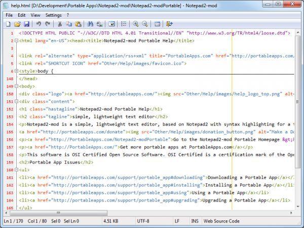 Vorschau Notepad2-mod Portable - Bild 1