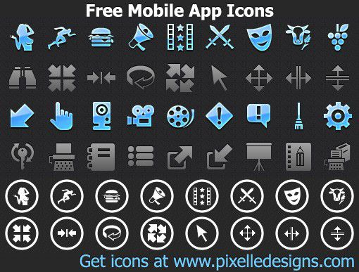 Vorschau Free Mobile App Icons - Bild 1
