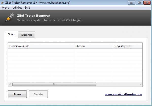 Vorschau ZBot Trojan Remover and Portable - Bild 1