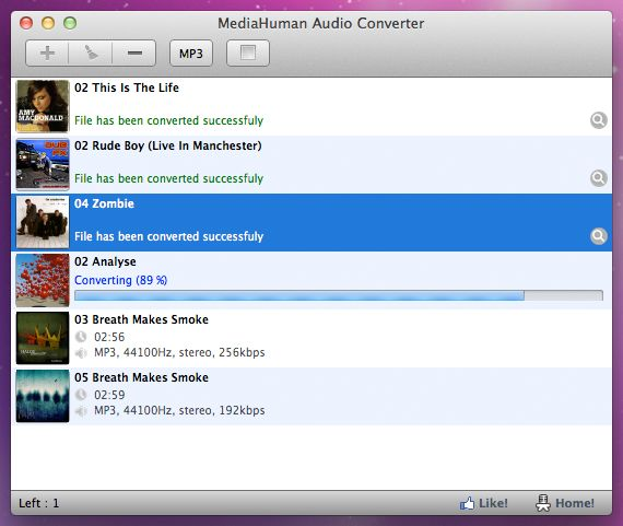 Vorschau MediaHuman Free Audio Converter - Bild 1