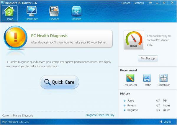 Vorschau Kingsoft PC Doctor - Bild 1