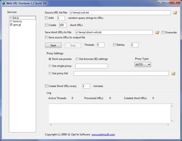 Vorschau Web URL Shortener - Bild 1