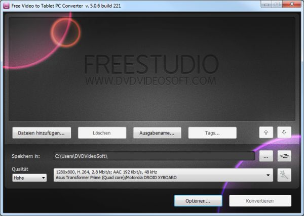 Vorschau Free Video to Tablet PC Converter - Bild 1