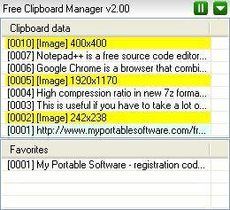 Vorschau Free Clipboard Manager - Bild 1