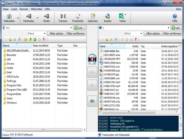 Vorschau Classic FTP Datei-Uebertragungssoftware - Bild 1