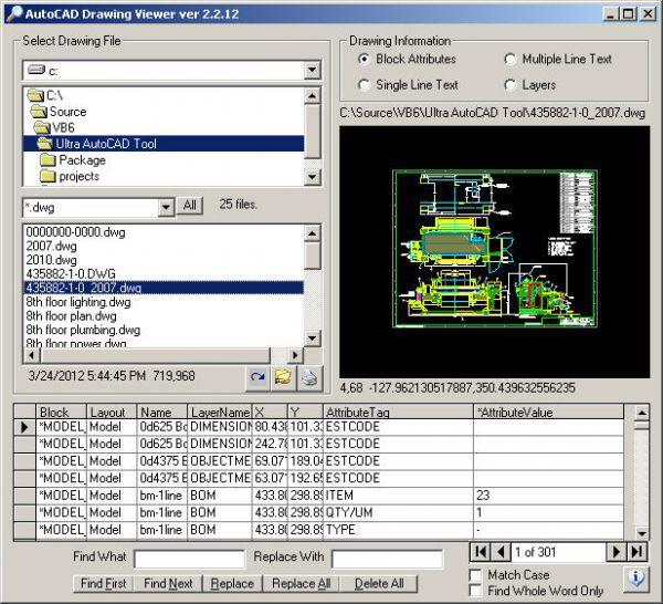 Vorschau AutoCAD Drawing Viewer - Bild 1