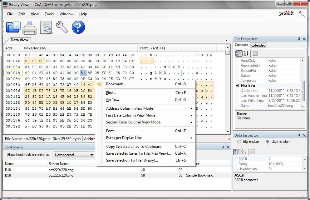 Vorschau Binary Viewer - Bild 1