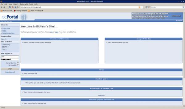 Vorschau Bitnami ocPortal Stack - Bild 1