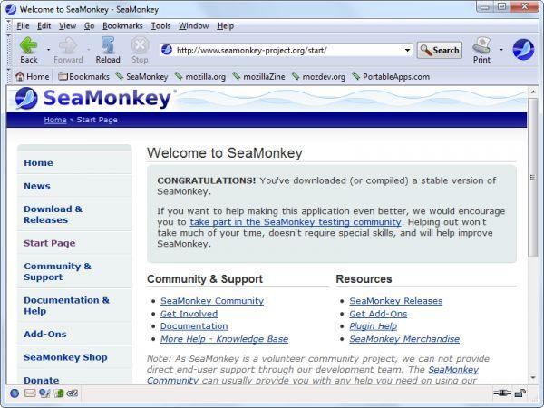 Vorschau Mozilla Seamonkey Portable - Bild 1