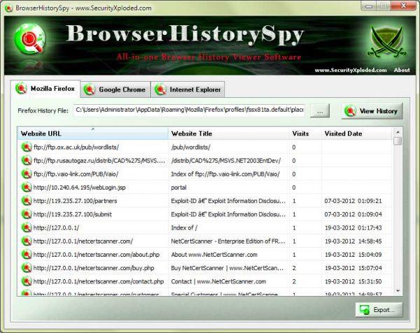 Vorschau Browser History Spy - Bild 1