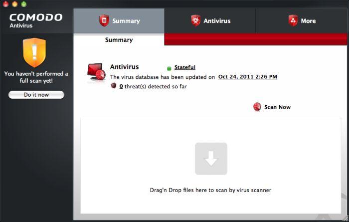 Vorschau Comodo Antivirus for Mac - Bild 1