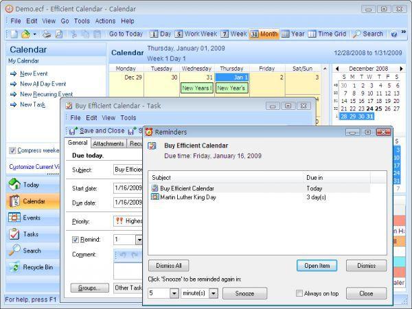 Vorschau Efficient Calendar Free and Portable - Bild 1