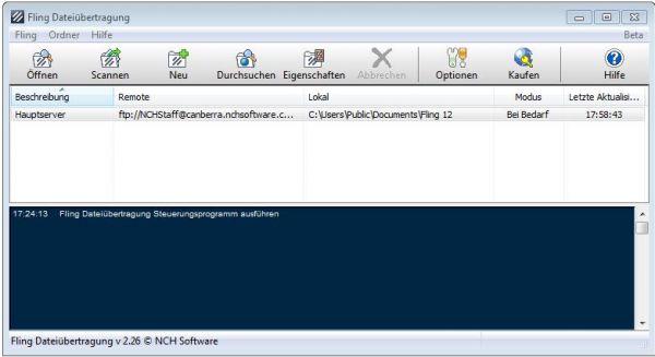 Vorschau Fling Kostenloses FTP-Upload-Programm - Bild 1