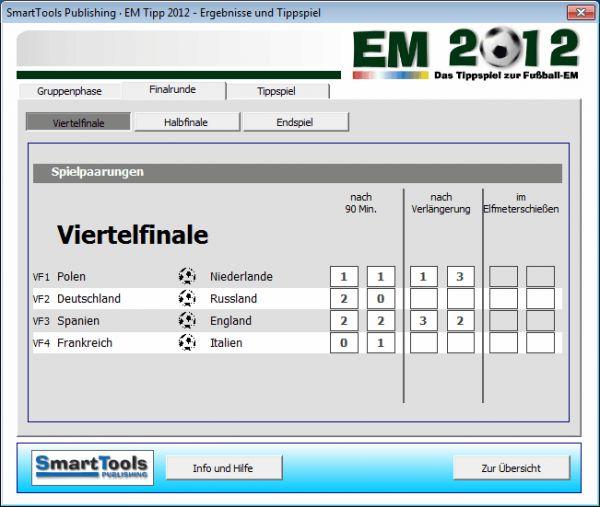 Vorschau SmartTools EM-Tipp 2012 fuer Excel - Bild 1