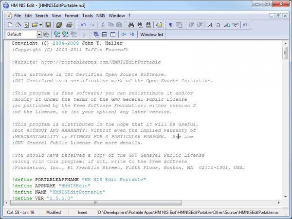 Vorschau HM NIS Edit Portable - Bild 1