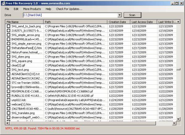 Vorschau Free File Recovery - Bild 1