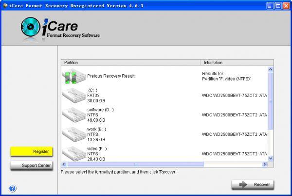 Vorschau iCare Format Recovery - Bild 1