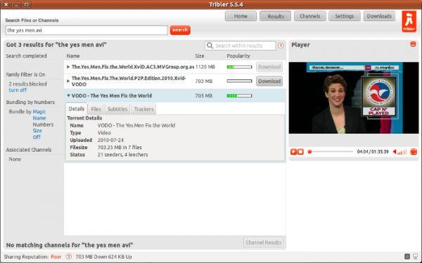 Vorschau Tribler for Linux - Bild 1