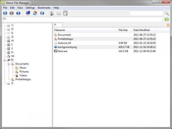 Vorschau Xenon File Manager Portable - Bild 1