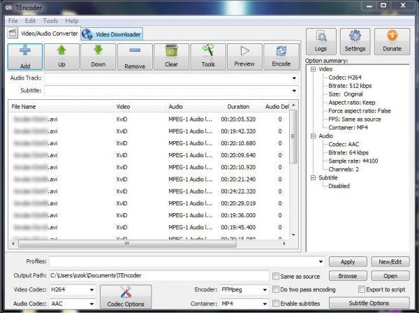 Vorschau TEncoder Video Converter and Portable - Bild 1