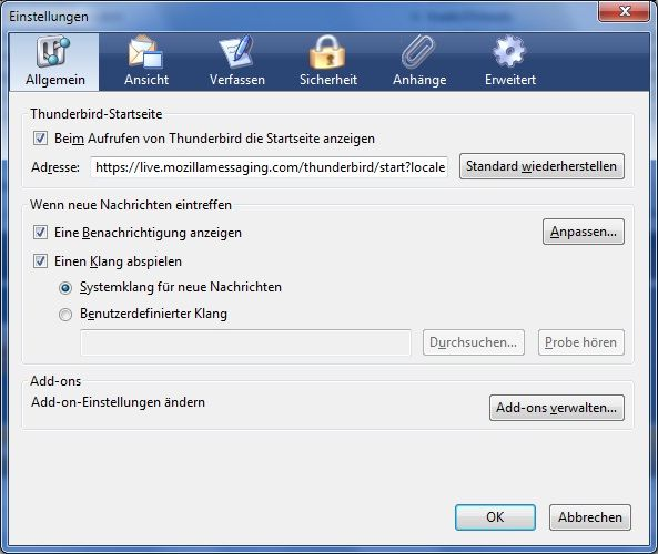Vorschau Mozilla Thunderbird ESR and Portable - Bild 1