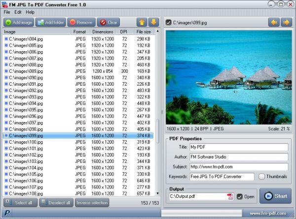 Vorschau JPG To PDF Converter Free - Bild 1
