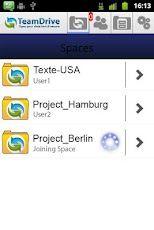 Vorschau TeamDrive for Android - Bild 1