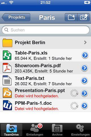 Vorschau TeamDrive for iOS - Bild 1