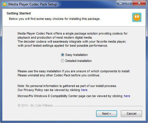 Vorschau Media Player Codec Pack - Bild 1