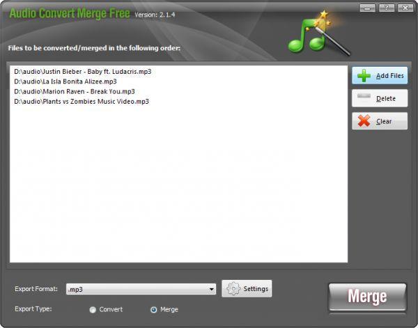 Vorschau Audio Convert Merge Free - Bild 1