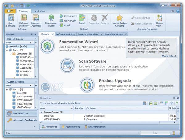 Vorschau EMCO Network Software Scanner - Bild 1