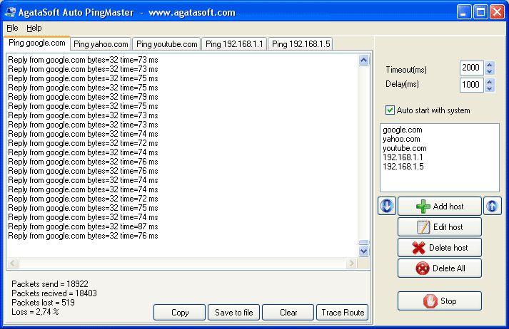 Vorschau AgataSoft Auto PingMaster - Bild 1
