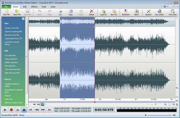 Vorschau Wavepad Kostenloser Audio-Editor Mac - Bild 1