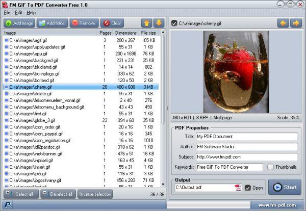Vorschau GIF To PDF Converter Free - Bild 1