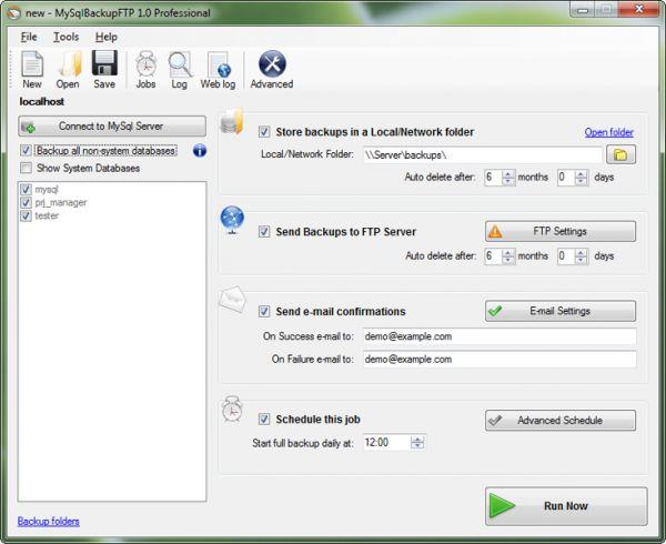 Vorschau MySQL Backup FTP - Bild 1