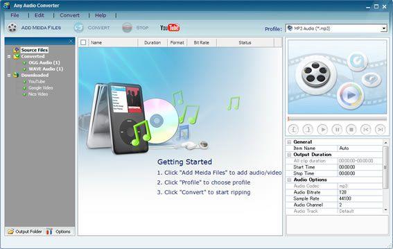 Vorschau Any Audio Converter Freeware - Bild 1