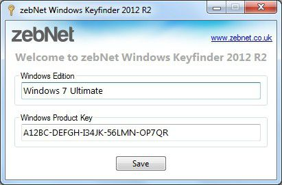 Vorschau zebNet Windows Keyfinder TNG - Bild 1