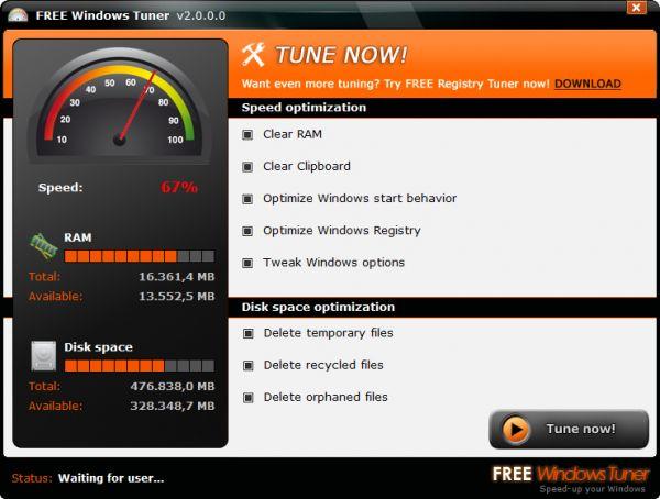 Vorschau Free Windows Tuner - Bild 1