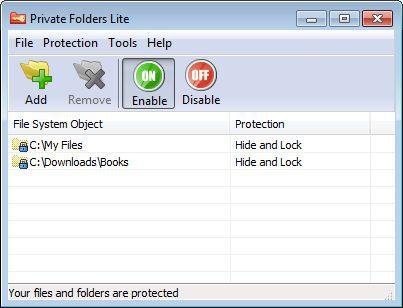 Vorschau Private Folders Lite - Bild 1