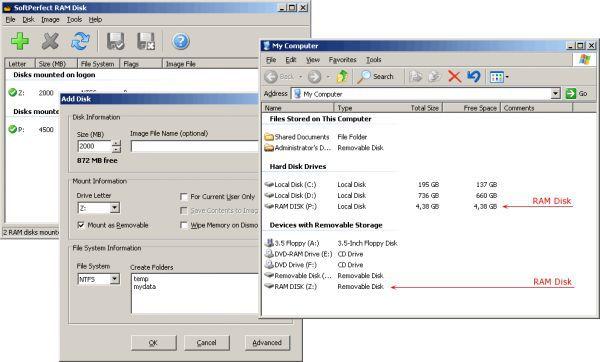 Vorschau SoftPerfect RAM Disk - Bild 1