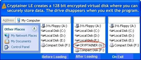 Vorschau Cryptainer LE Gratis Verschlusselung Software - Bild 1