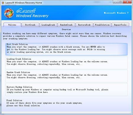 Vorschau Lazesoft Windows Recovery Home - Bild 1