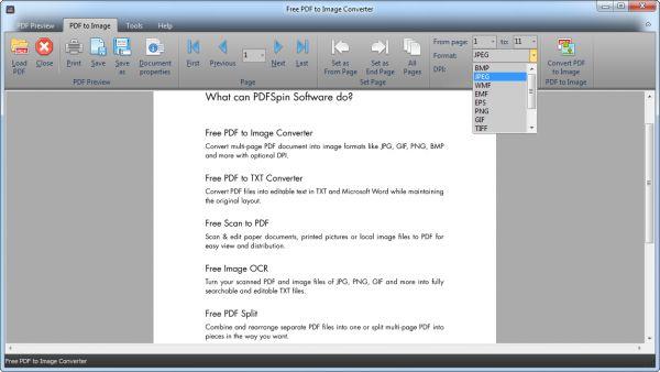 Vorschau Free PDF to Image Converter - Bild 1