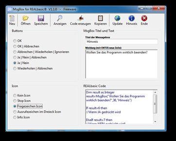Vorschau MsgBox for REALbasic® - Bild 1