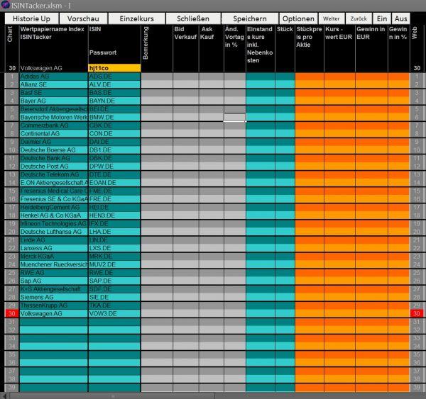 Vorschau Aktien Tracker - Bild 1