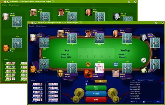 Vorschau PokerTH for Linux - Bild 1