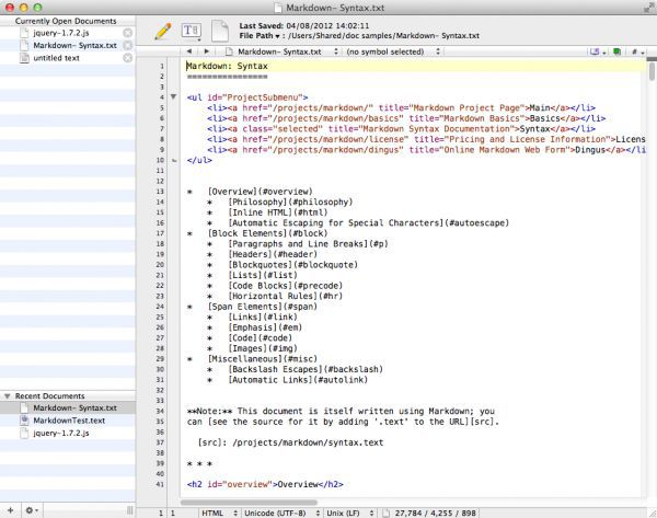 Vorschau TextWrangler for Mac - Bild 1
