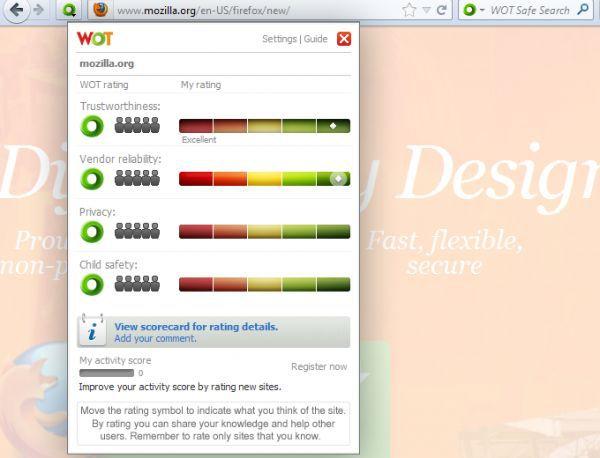 Vorschau WOT for Firefox - Bild 1